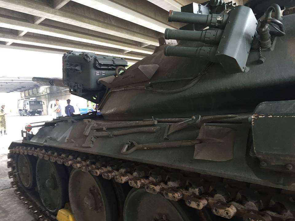 戦車のマフラー